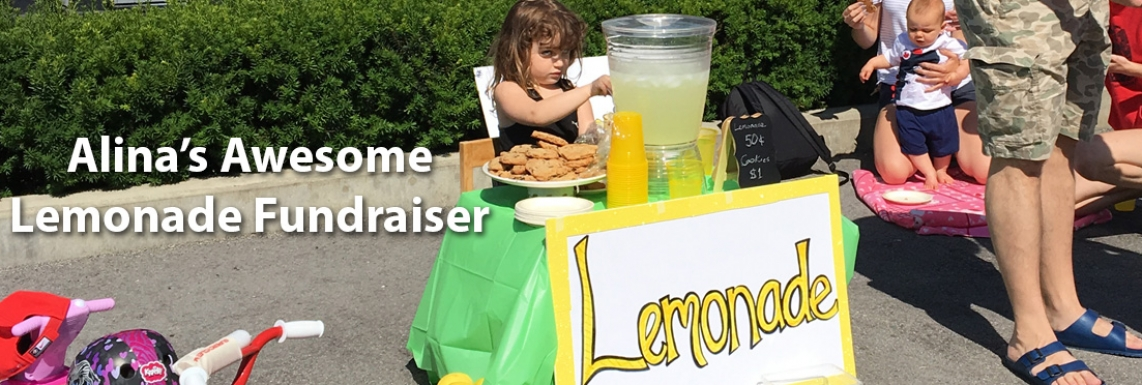 Alina's Awesome Lemonade Fundraiser