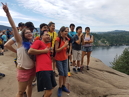 3rd group training: Top of Quarry Rock