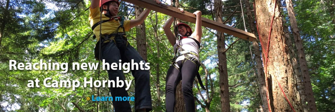 Reaching new heights at Camp Hornby