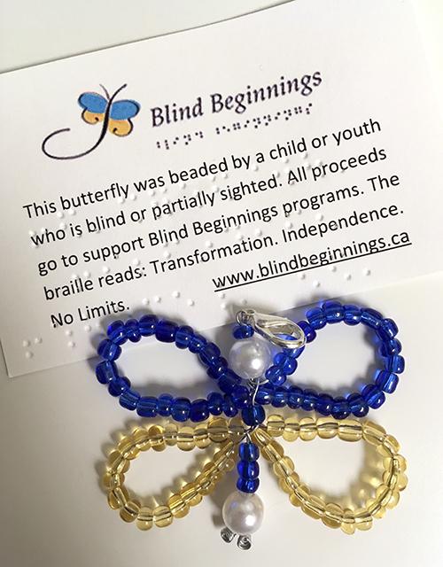 Blind Beginnings Beaded Butterfly