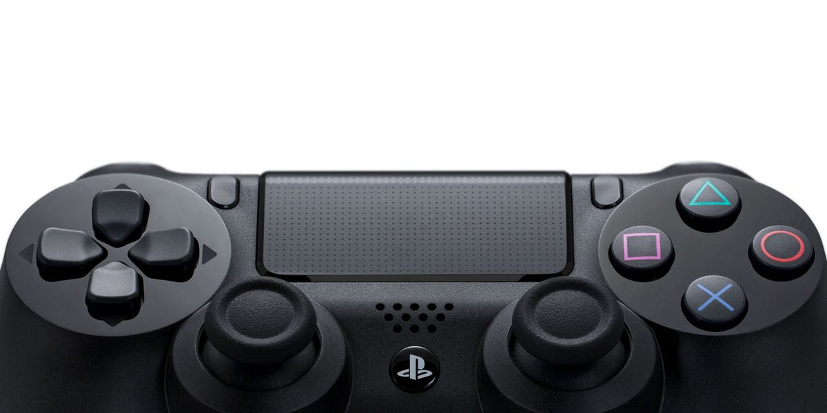 Image of the Playstation 4 controller against a white background.