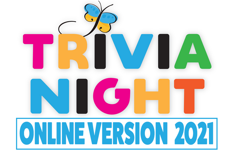 """The words """"Trivia Night Online Version 2021"""" in large multicolored block letters"""