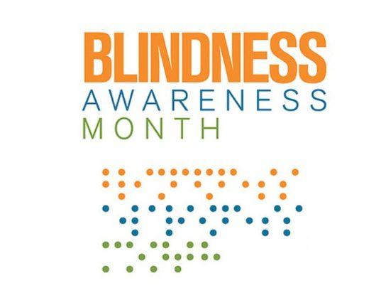 Logo for Blindness Awareness Month.